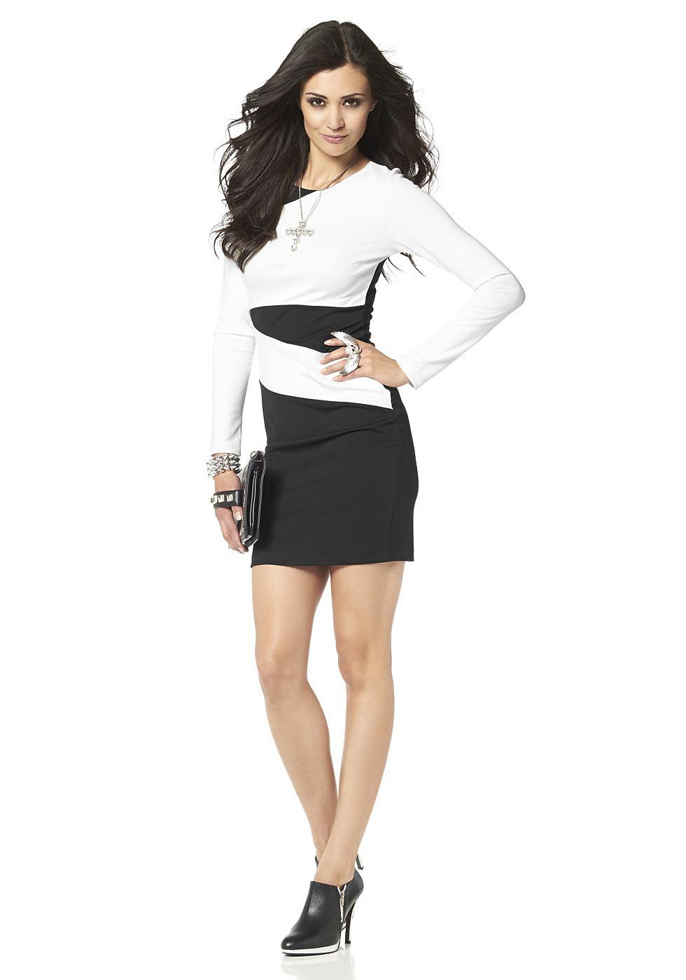 Laura Scott jurk met contrastinzetten wit
