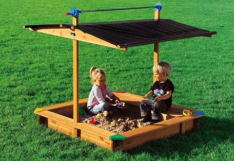 Zandbak met dak, GASPO, met geintegreerde speelgoedlade