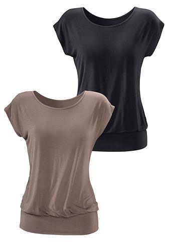 LASCANA Lang shirt in set van 2