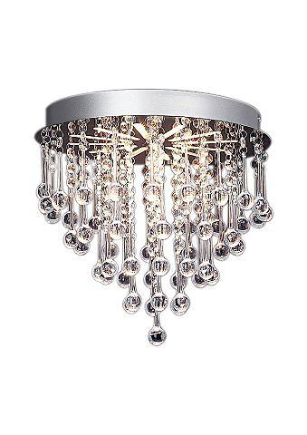 Plafondlamp met metalen frame