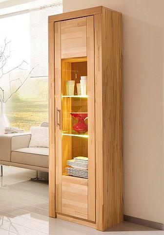 Vitrinekast 1-deurs met 2 glasplateaus
