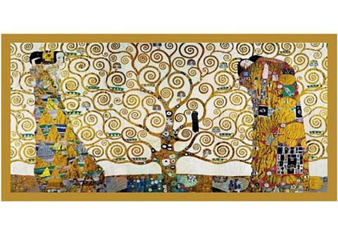 Artprint afm. 106x56 cm thema van KLIMT De levensboom