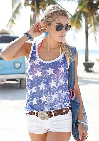 BEACH TIME Top in washed-out-look