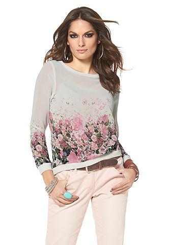 ANISTON Imprimé-blouse met rozenprint