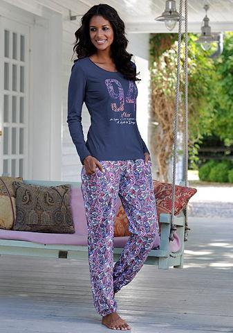 S.OLIVER Pyjama met paisleyprint allover