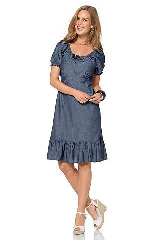 CHEER Jeans-jurk van katoen