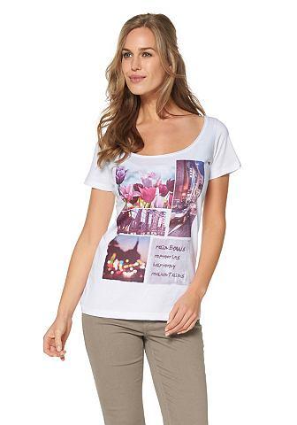 CHEER T-shirt met rolrandje langs de hals
