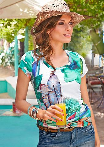 ANISTON T-shirt met exotic-print