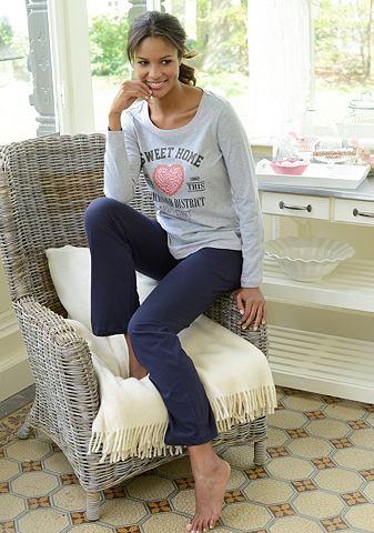 KANGAROOS Pyjama met hartprint voor