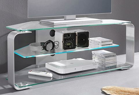 JAHNKE TV-meubel met 3 glasplateaus