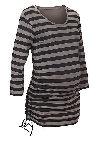 NEUN MONATE Zwangerschaps-shirt in streepdessin