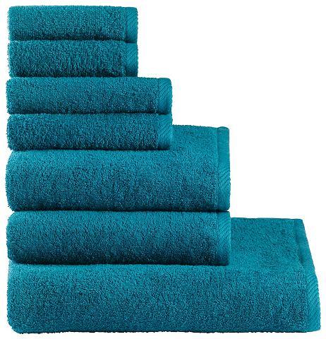 MY HOME Handdoeken Lisa in 7-delige set