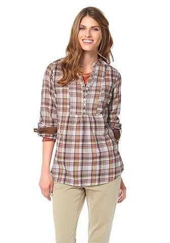 CHEER Geruite blouse