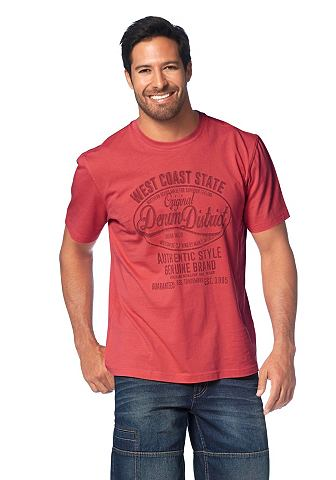 MAN'S WORLD T-shirt met grote frontprint