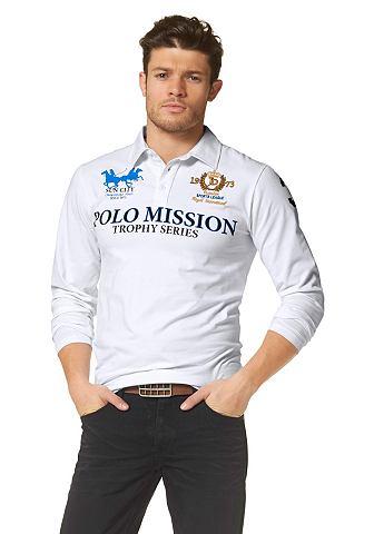 JOHN DEVIN Poloshirt met borduursel en print