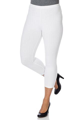 dameskleding chino broek SHEEGO CASUAL Capri legging met elastische band wit