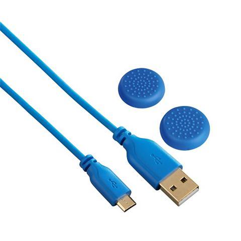 Super Soft Laadkabel Voor Ps4 Blauw