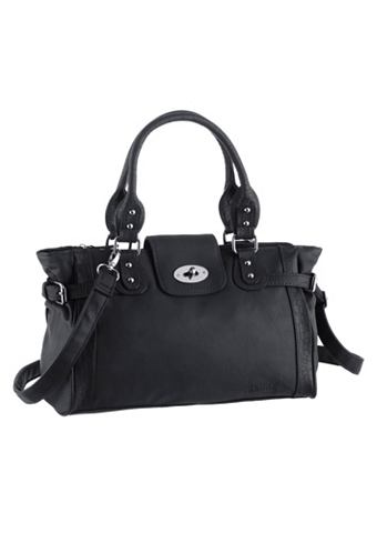 Handtas met stijlvolle reptielstempeldruk