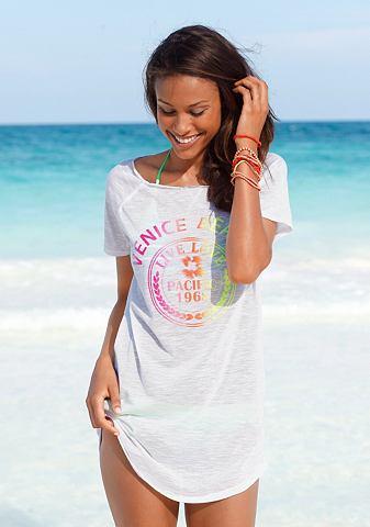 VENICE BEACH Lang shirt met neon-frontprint