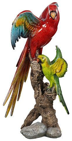 HOME AFFAIRE Decoratieve figuur Papegaaien op stam