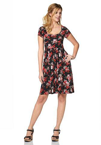 CHEER Jersey-jurk met ronde hals