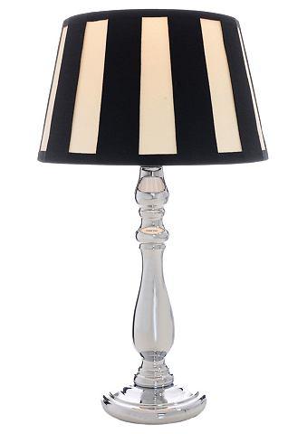 Tafellamp met chroomkleurige voet