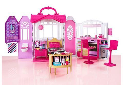 Mattel poppenhuis barbie glamour vakantiehuis in de for Barbiehuis aanbieding
