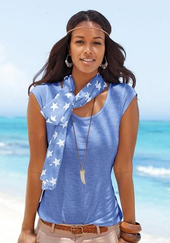 BEACH TIME Shirt met sjaal als set