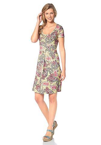 CHEER Jersey-jurk met zakken opzij