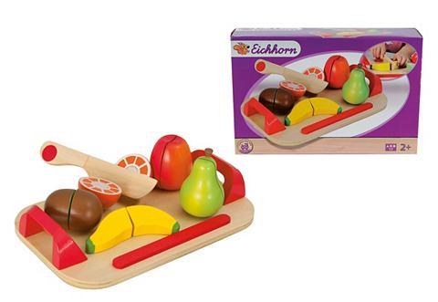 EICHHORN Houten vruchten op bord in 12-delige set
