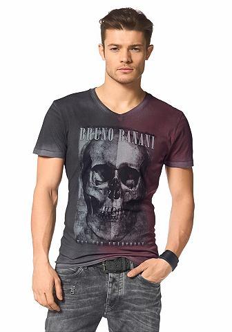 BRUNO BANANI T-shirt met doodskopprint