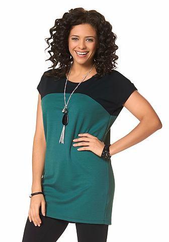 BOYSEN'S Lang shirt in colourblocking-design