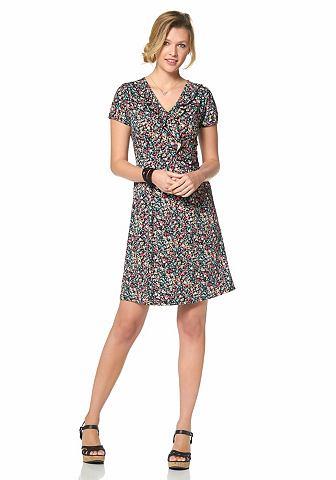 CHEER Jersey-jurk met millefleurs-motief