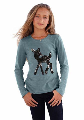 ARIZONA Shirt met lange mouwen en pailletten