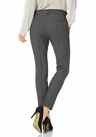 S.OLIVER PREMIUM Broek in minimal-dessin allover