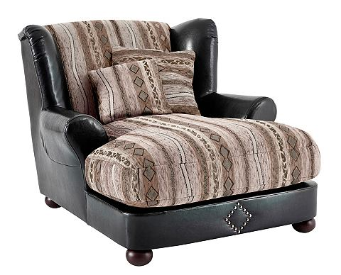 HOME AFFAIRE Oorfauteuil in koloniale stijl