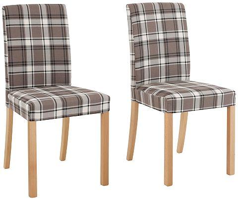 HOME AFFAIRE stoel »Nina« (set van 2, 4, 6), met geruite weefstof