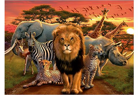 Ravensburger puzzel savanne in het avondrood 500 stukjes