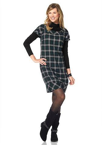 CHEER Geweven jurk met ruitmotief