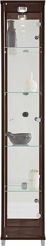 Vitrinekast 1 deur + spiegelwand + 4 glasplateaus