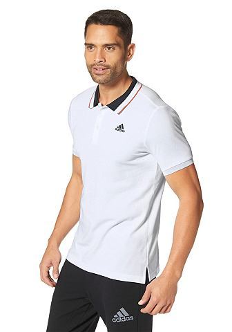 adidas Performance ESSENTIALS Poloshirt white/black