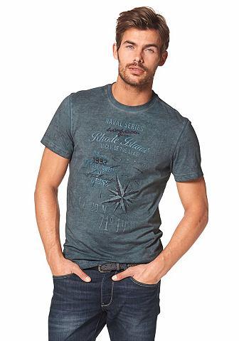 RHODE ISLAND T-shirt in used-look
