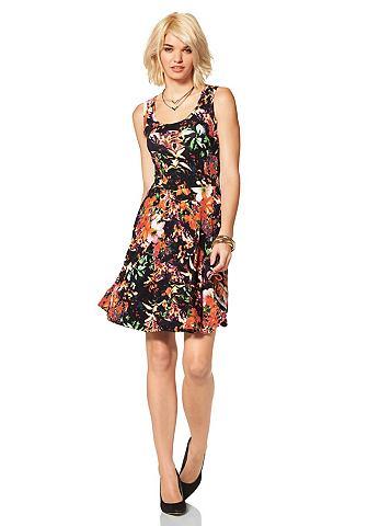 LAURA SCOTT Jersey-jurk met allover-print