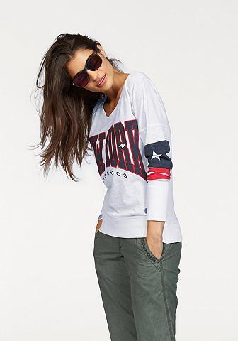 KANGAROOS Shirt met lange mouwen en logoprint