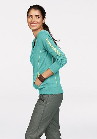 KANGAROOS Sweatshirt met contrastpaspels opzij