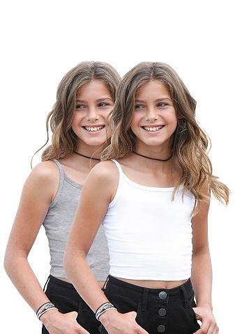 ARIZONA Korte meisjes-top in set van 2