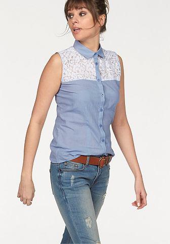 AJC Kanten blouse met doorknoopsluiting