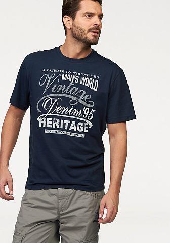 MAN'S WORLD T-shirt in jerseykwaliteit
