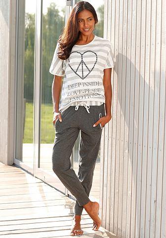 ARIZONA Pyjama met gestreept shirt en smalle broek