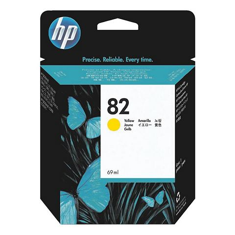 HP 82 - Inktcartridge / Geel